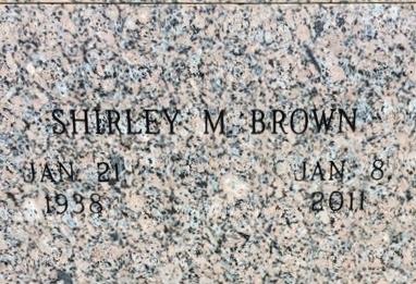 BROWN, SHIRLEY M. - Bowie County, Texas | SHIRLEY M. BROWN - Texas Gravestone Photos