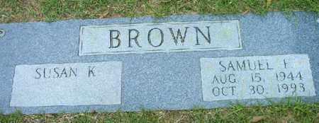 BROWN, SAMUEL F - Bowie County, Texas | SAMUEL F BROWN - Texas Gravestone Photos