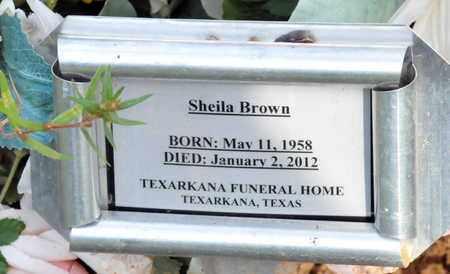 BROWN, SHELIA - Bowie County, Texas   SHELIA BROWN - Texas Gravestone Photos