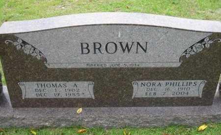 BROWN, THOMAS A. - Bowie County, Texas | THOMAS A. BROWN - Texas Gravestone Photos
