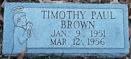 BROWN, TIMOTHY PAUL (CLOSEUP) - Bowie County, Texas | TIMOTHY PAUL (CLOSEUP) BROWN - Texas Gravestone Photos