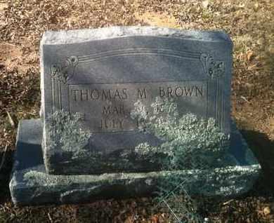 BROWN, THOMAS M - Bowie County, Texas   THOMAS M BROWN - Texas Gravestone Photos