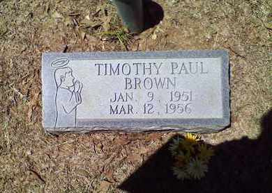 BROWN, TIMOTHY PAUL - Bowie County, Texas   TIMOTHY PAUL BROWN - Texas Gravestone Photos