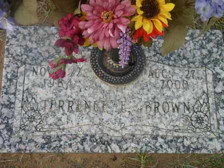 BROWN, TERRENCE E - Bowie County, Texas | TERRENCE E BROWN - Texas Gravestone Photos