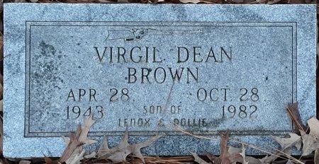 BROWN, VIRGIL DEAN (CLOSEUP) - Bowie County, Texas   VIRGIL DEAN (CLOSEUP) BROWN - Texas Gravestone Photos