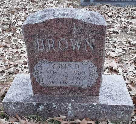 BROWN, VIRGIL D - Bowie County, Texas   VIRGIL D BROWN - Texas Gravestone Photos
