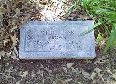 BROWN, VIRGIL DEAN - Bowie County, Texas | VIRGIL DEAN BROWN - Texas Gravestone Photos