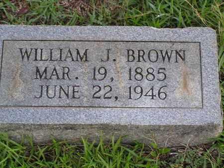 BROWN, WILLIAM J - Bowie County, Texas | WILLIAM J BROWN - Texas Gravestone Photos