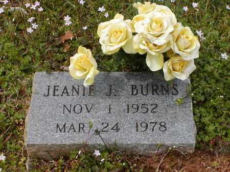 BURNS, JEANIE J - Bowie County, Texas | JEANIE J BURNS - Texas Gravestone Photos