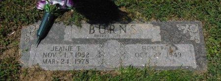 JOHNSON BURNS, JEANIE T - Bowie County, Texas   JEANIE T JOHNSON BURNS - Texas Gravestone Photos