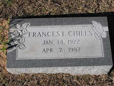 CHILES, FRANCES L - Bowie County, Texas | FRANCES L CHILES - Texas Gravestone Photos