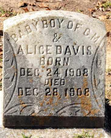 DAVIS, BABY BOY - Bowie County, Texas | BABY BOY DAVIS - Texas Gravestone Photos