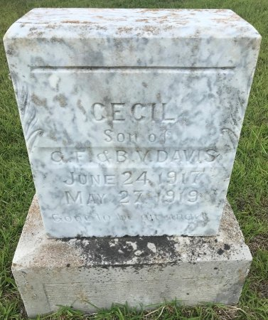 DAVIS, CECIL - Bowie County, Texas | CECIL DAVIS - Texas Gravestone Photos
