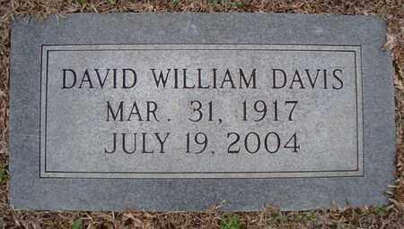 DAVIS, DAVID WILLIAM - Bowie County, Texas | DAVID WILLIAM DAVIS - Texas Gravestone Photos