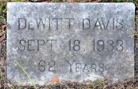 DAVIS, DEWITT - Bowie County, Texas   DEWITT DAVIS - Texas Gravestone Photos