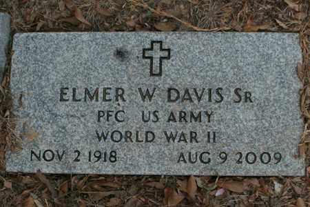 DAVIS, SR (VETERAN WWII), ELMER W - Bowie County, Texas   ELMER W DAVIS, SR (VETERAN WWII) - Texas Gravestone Photos