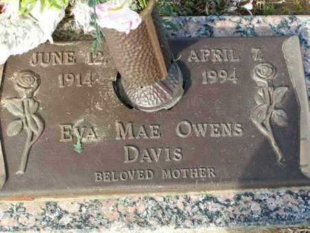 OWENS DAVIS, EVA MAE - Bowie County, Texas | EVA MAE OWENS DAVIS - Texas Gravestone Photos