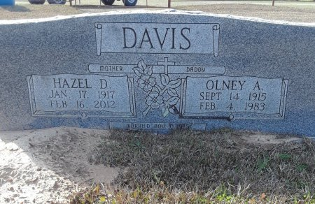 DAVIS, OLNEY A. - Bowie County, Texas | OLNEY A. DAVIS - Texas Gravestone Photos