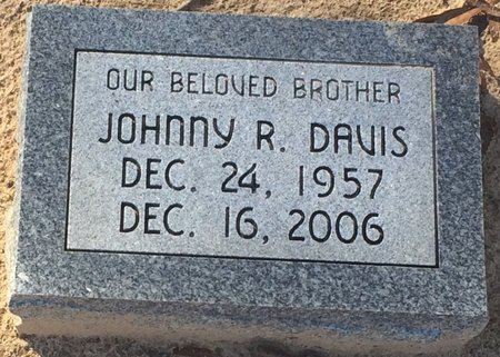 DAVIS, JOHNNY R. - Bowie County, Texas | JOHNNY R. DAVIS - Texas Gravestone Photos