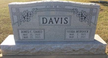 DAVIS, OUIDA - Bowie County, Texas | OUIDA DAVIS - Texas Gravestone Photos