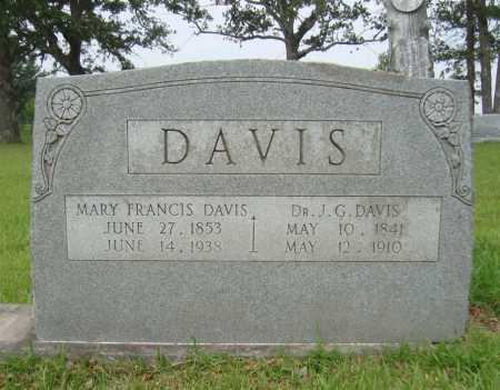DAVIS, MARY FRANCIS - Bowie County, Texas | MARY FRANCIS DAVIS - Texas Gravestone Photos
