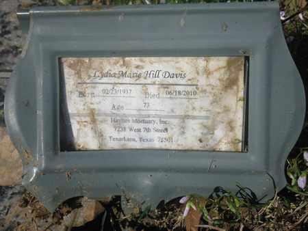 HILL DAVIS, LYDIA MARIE (FHM) - Bowie County, Texas   LYDIA MARIE (FHM) HILL DAVIS - Texas Gravestone Photos