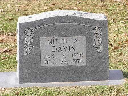 DAVIS, MITTIE A - Bowie County, Texas | MITTIE A DAVIS - Texas Gravestone Photos
