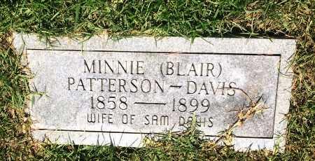 DAVIS, MINNIE  - Bowie County, Texas | MINNIE  DAVIS - Texas Gravestone Photos
