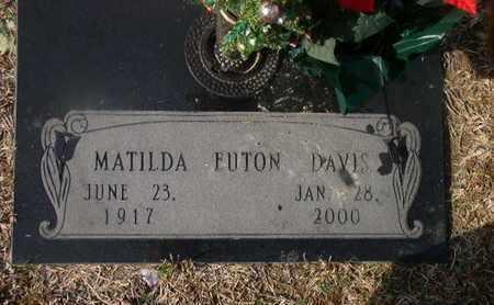 DAVIS, MATILDA FUTON - Bowie County, Texas | MATILDA FUTON DAVIS - Texas Gravestone Photos