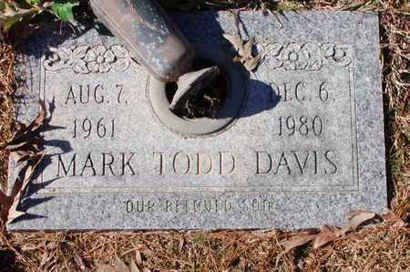 DAVIS, MARK TODD - Bowie County, Texas | MARK TODD DAVIS - Texas Gravestone Photos