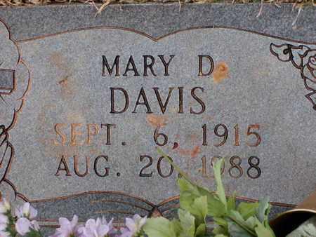 DAVIS, MARY D - Bowie County, Texas | MARY D DAVIS - Texas Gravestone Photos