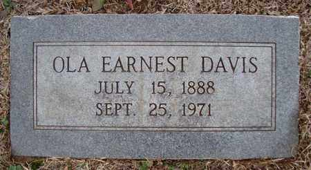 EARNEST DAVIS, OLA - Bowie County, Texas | OLA EARNEST DAVIS - Texas Gravestone Photos