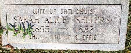 DAVIS, SARAH ALICE  - Bowie County, Texas | SARAH ALICE  DAVIS - Texas Gravestone Photos