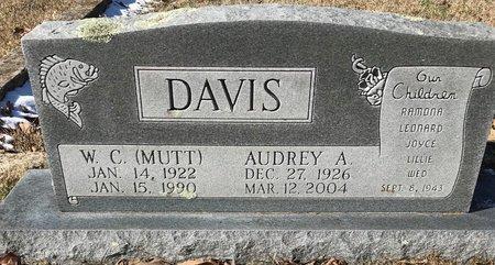 DAVIS, W C (MUTT) - Bowie County, Texas | W C (MUTT) DAVIS - Texas Gravestone Photos