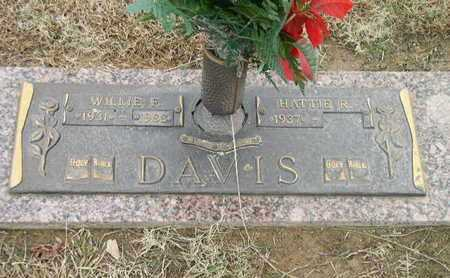 DAVIS, WILLIE F - Bowie County, Texas | WILLIE F DAVIS - Texas Gravestone Photos