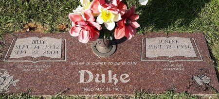 DUKE, BILLY  - Bowie County, Texas | BILLY  DUKE - Texas Gravestone Photos