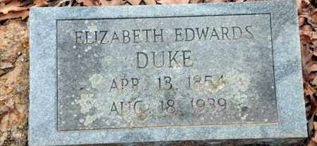 DUKE, ELIZABETH - Bowie County, Texas | ELIZABETH DUKE - Texas Gravestone Photos