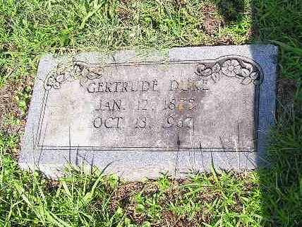 DUKE, GERTRUDE - Bowie County, Texas   GERTRUDE DUKE - Texas Gravestone Photos