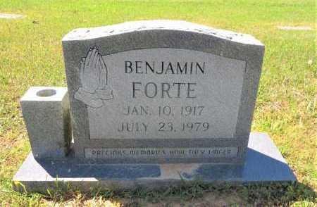 FORTE, BENJAMIN - Bowie County, Texas | BENJAMIN FORTE - Texas Gravestone Photos