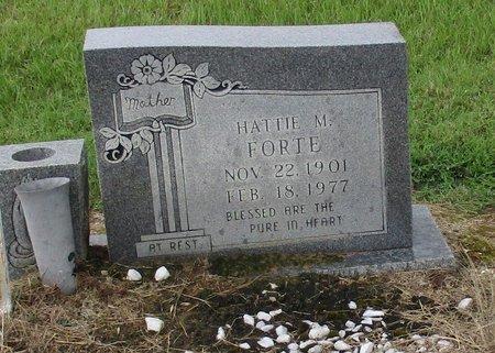 FORTE, HATTIE M - Bowie County, Texas   HATTIE M FORTE - Texas Gravestone Photos