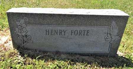 FORTE, HENRY - Bowie County, Texas | HENRY FORTE - Texas Gravestone Photos