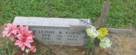 FORTE, LETHIE B - Bowie County, Texas | LETHIE B FORTE - Texas Gravestone Photos