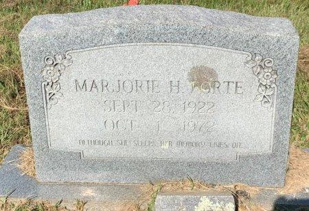 FORTE, MARJORIE H - Bowie County, Texas | MARJORIE H FORTE - Texas Gravestone Photos