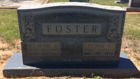 FOSTER, CLAUDIE A - Bowie County, Texas | CLAUDIE A FOSTER - Texas Gravestone Photos
