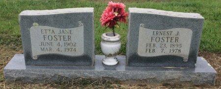 FOSTER, ETTA JANE - Bowie County, Texas | ETTA JANE FOSTER - Texas Gravestone Photos