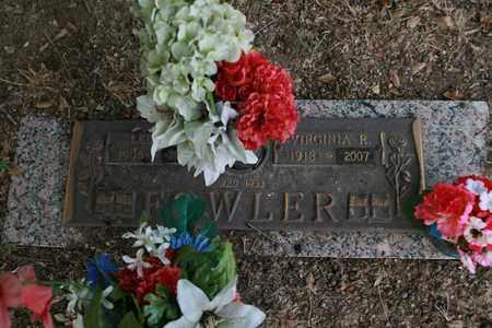 FOWLER, VIRGINIA R - Bowie County, Texas | VIRGINIA R FOWLER - Texas Gravestone Photos