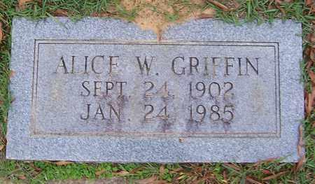 GRIFFIN, ALICE W - Bowie County, Texas | ALICE W GRIFFIN - Texas Gravestone Photos