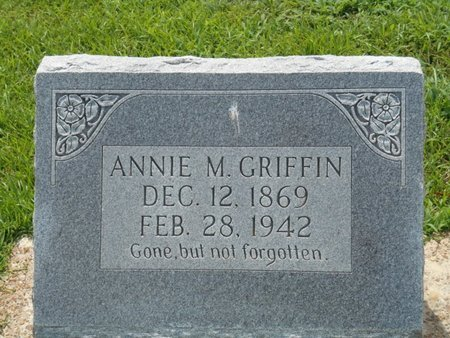 GRIFFIN, ANNIE M - Bowie County, Texas   ANNIE M GRIFFIN - Texas Gravestone Photos