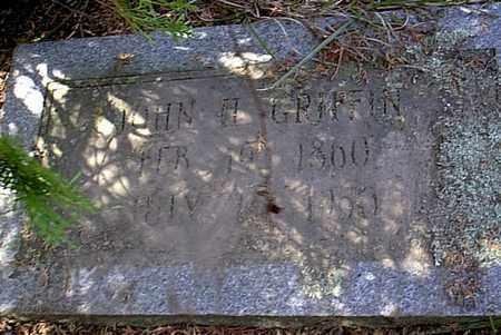 GRIFFIN, JOHN H - Bowie County, Texas   JOHN H GRIFFIN - Texas Gravestone Photos