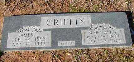 GRIFFIN, MARY ALICE - Bowie County, Texas | MARY ALICE GRIFFIN - Texas Gravestone Photos